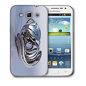 Snoogg Abstract Silver Design Printed Protective Phone Back Case Cover For Samsung Galaxy Samsung Galaxy Win I8550 / S IIIIII