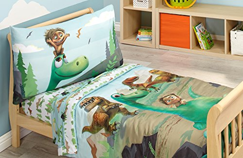 Disney Prehistoric Footprints 4 Piece Toddler Bed Set, The Good Dinosaur