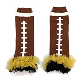 Rush Dance Team Colors Football Touch Down Baby/ Toddler Leg Warmers (One Size, Yellow & Black)