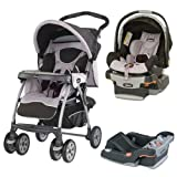 Chicco COTRBAROMA Cortina Travel System Romantic W 2 Keyfit 30 Seat Base