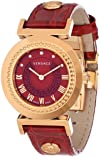Versace Women's P5Q80D800 S800 Vanity Rose Gold Ion-Plated Stainless Steel Red Sunray Dial…