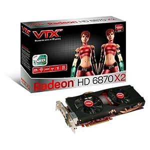 VTX3D RADEON HD 6870 X2 - 2 GO GDDR5 - PCI-EXPRESS 2.1 (VX6870X2 2GBD5-2DHG) .