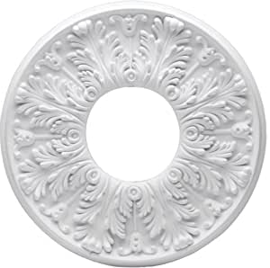 Westinghouse 77772 Victorian Medallion Two-Piece Design, 15- 3/4-Inch Width, White