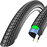 Schwalbe Marathon Almotion Evolution Line Lite Skin One Star Dynamic Casing Folding Tyre - Reflex Black, 26 x 2.15 Inch