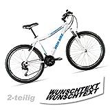 Wunschtext-Beschriftung-Fahrradaufkleber-fr-Rahmen-2-teilig-Fahrrad-Aufkleber-TOP-SE001