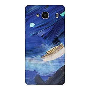 Special Blue Paint Work Print Back Case Cover for Redmi 2s