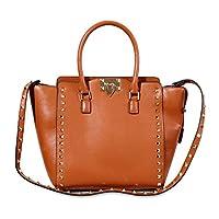 Kattee Women's Leather Punk Style Satchel Shoulder Handbag