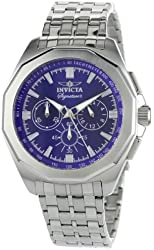 Invicta Men's 7315 Signature II Blue Dial Chronograph Stainless-Steel Watch