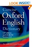 Concise Oxford English Dictionary: CD-ROM edition, Windows/Mac Individual User Version 1.0: over 50.000 spoken pronounciations