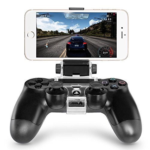 DOBE Smart Phone Clip Clamp Mount Holder Stand Bracket for Sony PlayStation 4 PS4 Wireless Controller (Phone not included)