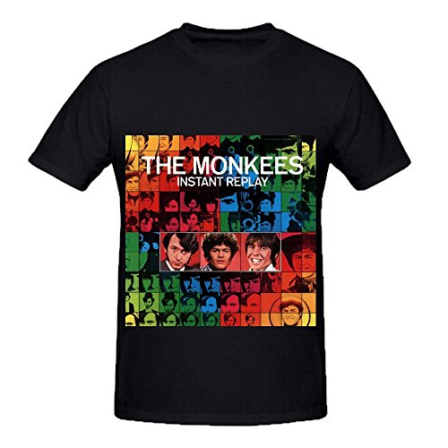 the-monkees-instant-replay-soul-mens-crew-neck-cool-shirt-black