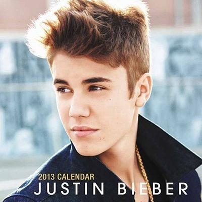 Justin Bieber 2013 Mini Calendar + BONUS Pack Of Justin Bieber Silly Bandz Bracelets!!!