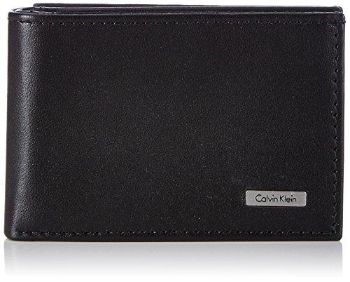 Calvin Klein Jeans RAIL MINI 6CC + COIN, Portafoglio uomo, Nero (Nero (Black 001)), 11x7x3 cm (B x H x T)