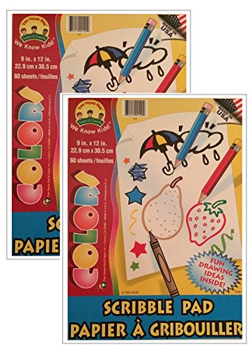 Kids Scribble and Doodle Sketch Pad Coloring Books 60 Sheets