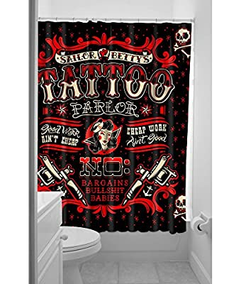 Sourpuss Sailor Betty Shower Curtain