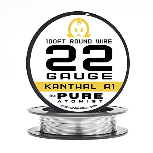 Pure Atomist 22 Gauge AWG kanthal A1 Wire 100ft Roll 0.64 mm 1.31 Ohms/ft Resistance (Rda Building compare prices)