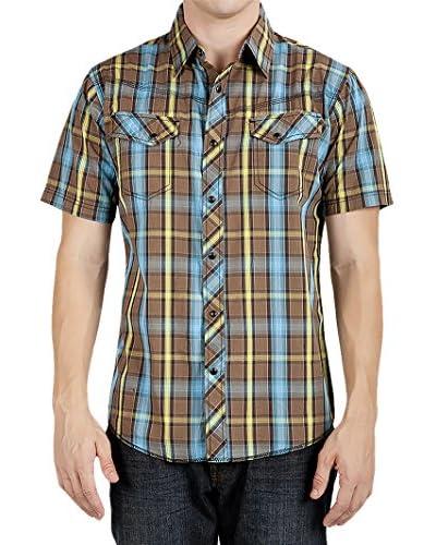Micros Men's Nash Short Sleeve Plaid Shirt