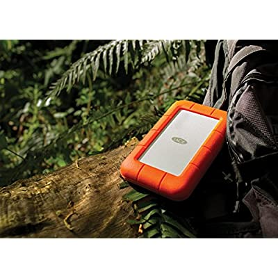 LaCie Rugged Thunderbolt LAC9000489 2TB External Hard Drive (Orange)