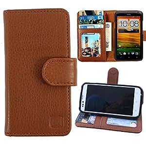 Dooda Genuine Leather Wallet Flip Case For Nokia Lumia 720 (TAN BROWN)
