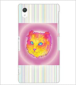 PrintDhaba Cat D-3463 Back Case Cover for SONY XPERIA Z2 (Multi-Coloured)