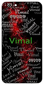 Vimal (Pure) Name & Sign Printed All over customize & Personalized!! Protective back cover for your Smart Phone : Moto G2 ( 2nd Gen )