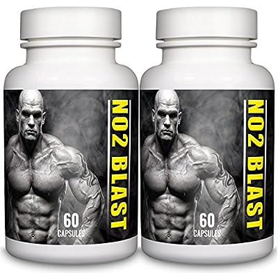 L-Arginine 550mg 120 Capsules NO2 Blast Pharmaceutical Grade Essential Amino Acid from Natural Answers