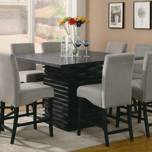 Buy Low Price Coaster Black Counter Height Dining Table – Coaster 102068 Efurnitureshowroom (B005LWSIWE)