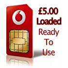 Vodafone UK Pay As You Go SIM Card with reduced international call rates