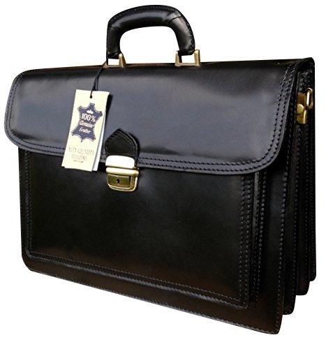 16inch Hand Crafted Laptop Satchel Portfolio Messenger Bag