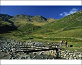 Photographic Print of Footbridge over Oxendale Beck near Crinkle Crags, Lake District National Park from Robert Harding