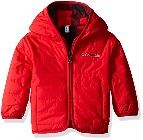 Columbia Baby Boys' Double Trouble Jacket, Mountain Red Plaid, 6-12 Months