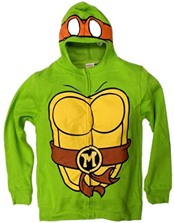 Teenage Mutant Ninja Turtles Tmnt Michelangelo Mens Costume Hoodie
