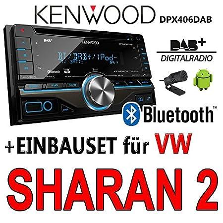 VW sharan 2 dPX406DAB 2-dIN pour autoradio kenwood autoradio dAB uSB avec bluetooth avec