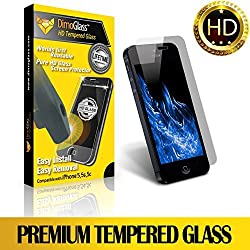 iPhone 5s Privacy Screen Protector Tempered Glass-Sapphire Hardness ★Lifetime Replacement Program★ [No Questions Asked], Bubble Free Best Iphone Tempered Glass Screen Protector - The Only Reusable Screen Protect