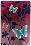 Churchills Pink Tin with Blue Butterflies with Belgian Chocolate Biscuits 300 g
