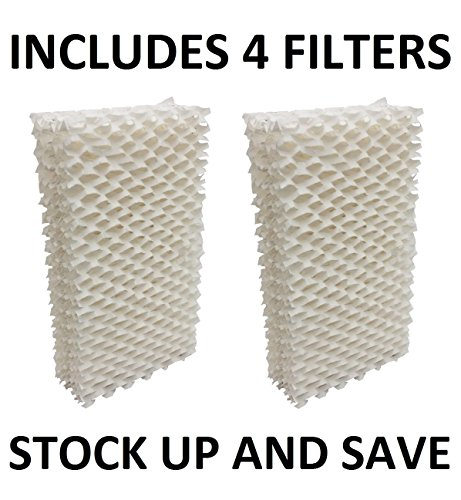 Humidifier Filter Wick for Essick Emerson MoistAir HDC-411, 1211, 2412 - 4 Pack (Emerson Humidifier Paper compare prices)