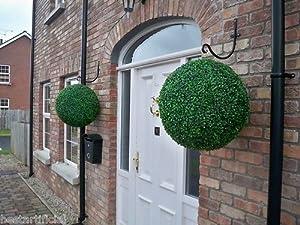 2 Huge Best Artificial (TM) 50cm Dark Boxwood Buxus Topiary Grass Balls       Customer reviews