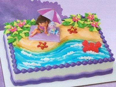 Dora Birthday Party Supplies Grand Sales Dora The Explorer Beach - Dora birthday cake toppers