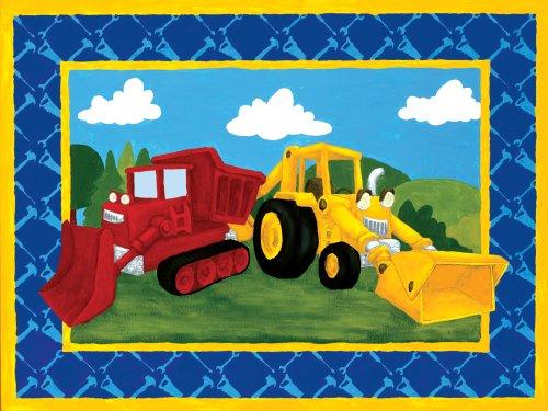 "Art 4 Kids ""Building Trucks"" Mounted Art Print, 24""X18"" front-637832"