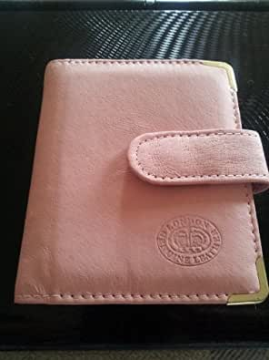 LADIES LEATHER PINK CREDIT CARD CASE HOLDER