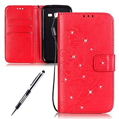 JAWSEU Cute Leather Case forSamsung Galaxy Core Prime G360 Cat, Colorful Wallet Cover for Samsung Galaxy Core Prime G360 Animal Pattern, Retro Elegant Painted Slim Leather Wallet Cover Flip Case Credit Card Holder Slot Stand Protective Magnetic Book Case