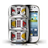STUFF4 Phone Case Cover for Samsung Galaxy Fame Bars Design Slot Machine Collection