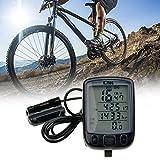 (Ckeyin) サイクリング自転車スピードメーター 走行距離計  タッチスクリーン  大型LCD 10機能性計測  防水