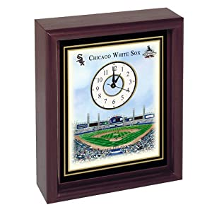 Chicago White Sox U.S. Cellular Field Stadium Colorprint Desk Clock by Chicago