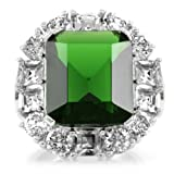 Bague heritage Aubree CZ emeraude