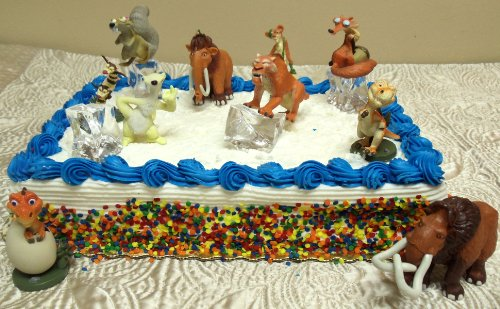 Hard To Find 14 Piece Ice Age Cake Topper Set Featuring