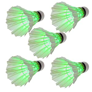 Crazy Shopping 50*dark Night LED Badminton Shuttlecock Birdies Lighting Green