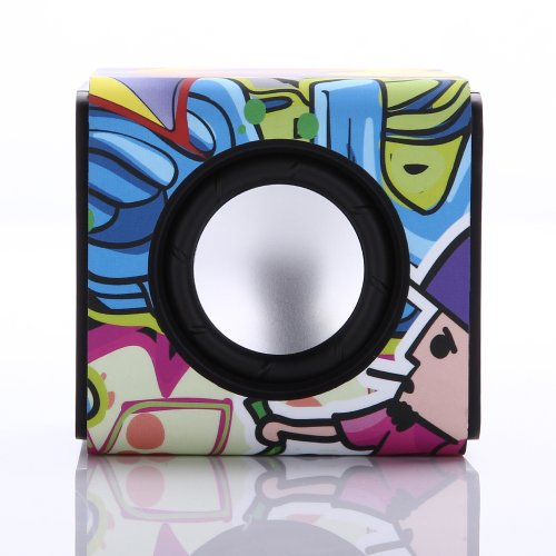 Mlii™ Cube Multi-Function Bluetooth Speaker+Bluetooth Receiver Wireless Portable-Compatible With All Bluetooth-Enabled Device, Universal Headphones Headset Stereo Speakers (Colorful)