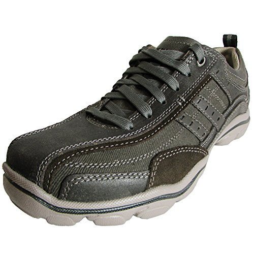 Skechers USA Men's Montz Reyvon Relax Fit Oxford,Charcoal,7 M US