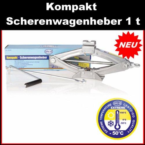 Alca Kompakt Scherenwagenheber Wagenheber 1 t